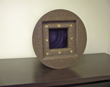 Burial Urn, Brown Granite Burial Urn, Brown Granite Cremation Urn, Combination Burial Urn Vault