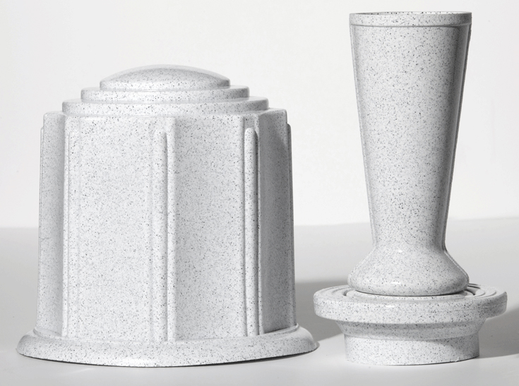 White Granite Urn & Vase Canister Set